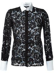 кружевная рубашка с цветочным узором Valentino