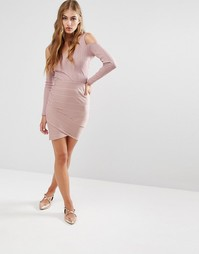 Бандажная юбка Miss Selfridge - Розовый