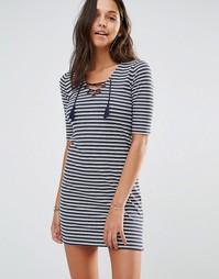 Облегающее платье со шнуровкой Hollister - Мульти