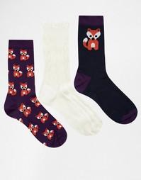 Комплект из 3 пар носков с принтом Totes Ladies - Мульти
