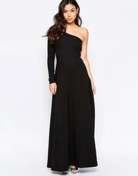 Платье макси на одно плечо Twin Sister - Черный