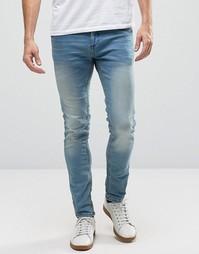 Голубые облегающие джинсы Blend Cirrus - Синий