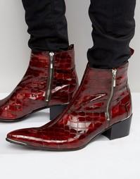 Ботинки на молнии Jeffery West Sylvian - Красный