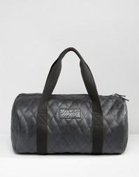 Стеганая сумка дафл в кожаном стиле Heist - Черный