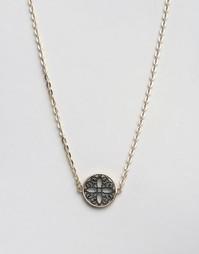 Ожерелье с филигранным диском Nylon - Золотой