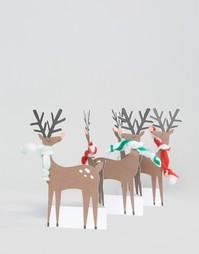 Раскладная рождественская открытка с оленем Meri Meri - Мульти