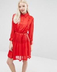 Платье с плиссированной юбкой Sister Jane Karina - Красный