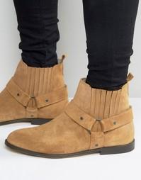 Замшевые байкерские ботинки KG Kurt Geiger Jackson - Рыжий