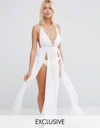 Пляжное платье макси Wolf & Whistle - Белый