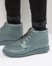 Кожаные высокие ботинки со шнуровкой Kickers Kick - Зеленый