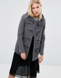 Gloverall Mid Slim Duffle Coat in Grey - Серый