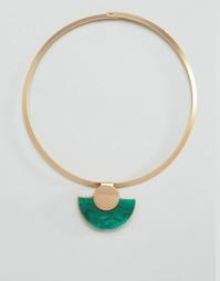 Ожерелье-воротник с бирюзой DesignB - Зеленый