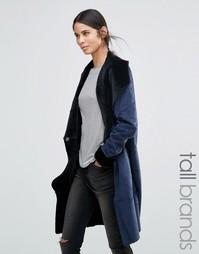 Пальто из искусственной овечьей шерсти Vero Moda Tall - Темно-синий