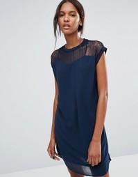 Платье-туника с кружевной кокеткой Vero Moda Tall - Черный