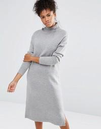 Платье-футболка Neon Rose - Серый