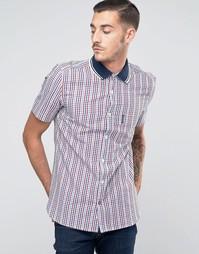 Рубашка в клеточку с короткими рукавами Lambretta - Красный