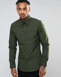 Рубашка узкого кроя G-Star - Зеленый