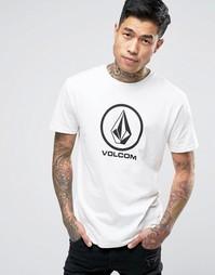 Белая футболка с логотипом Volcom - Белый