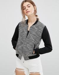 Куртка-пилот с геометрическим рисунком Madam Rage - Черный