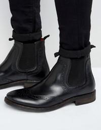 Кожаные ботинки челси Base London Southwark - Черный