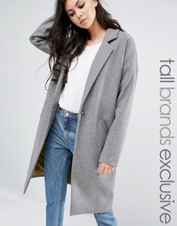 Свободное пальто-бушлат Noisy May Tall - Серый