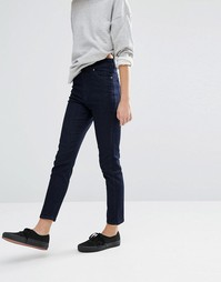 Dr Denim High Waist Ankle Grazer Skinny Jeans - Синий