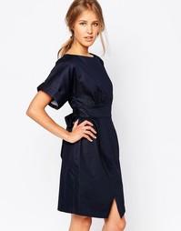 Платье с разрезом спереди Closet - Темно-синий