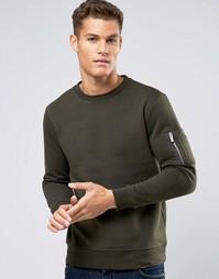 Свитшот цвета хаки Burton Menswear - Зеленый