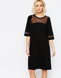 Черное платье с прозрачной вставкой Just Female Osaka - Черный
