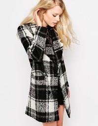 Клетчатое пальто Jovonna Natasha - Черный