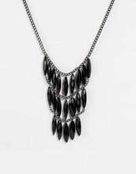 Броское ожерелье с камнями Pilgrim - Черный