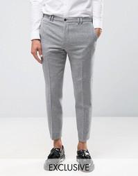 Суженные книзу фланелевые брюки Noak - Серый
