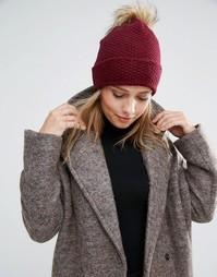 Тканая шапка-бини с декоративной строчкой Alice Hannah - Красный
