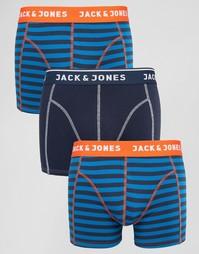 3 пары боксеров-брифов Jack & Jones - Синий