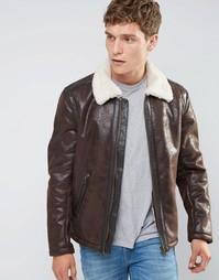 Куртка-пилот из искусственной кожи Wrangler - Коричневый