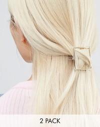 Набор из 2 заколок для волос Nylon - Серебряный