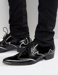 Кожаные туфли на каблуке Jeffery West Adam Ant - Рыжий