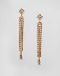 Серьги с кристаллами Swarovski от Krystal - Золотой