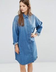 Джинсовое платье-рубашка Waven Sigvor - Синий