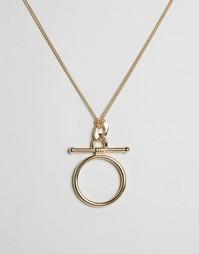 Броское ожерелье Cara NY - Золотой