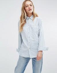 Рубашка в полоску Rollas - Синий Rollas