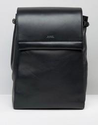 Черный кожаный рюкзак Sandqvist Monica - Черный