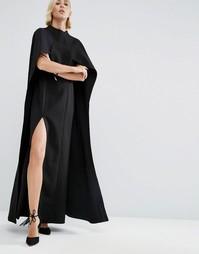 Платье макси с накидкой ASOS WHITE - Черный