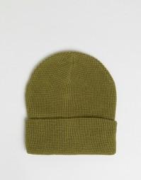 Шапка-бини оливкового цвета 7X - Зеленый