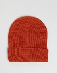Шапка-бини выгоревшего оранжевого цвета 7X - Оранжевый