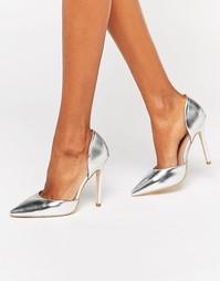 Серебристые туфли-лодочки Public Desire Keely - Белый