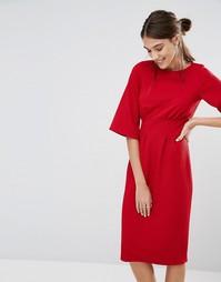 Фактурное платье с рукавами-кимоно Closet - Красный