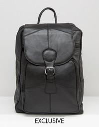 Черный кожаный рюкзак Reclaimed Vintage - Черный