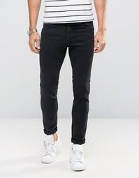 Зауженные джинсы из эластичного денима Sisley - Черный
