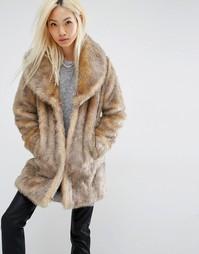 Шуба из искусственного меха Unreal Fur Elixir - Коричневый